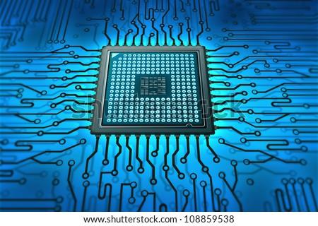 technology - stock photo