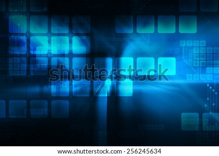 Technology Abstract - stock photo