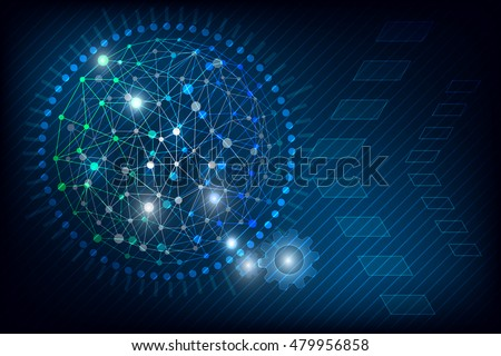 technology abstract background blue with geometric lines