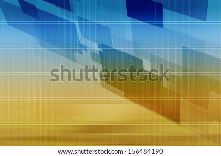 Technology Abstract with Futuristic Lines and Data. - stock photo