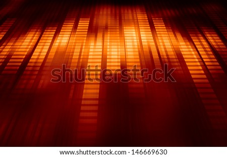 Technology Abstract with Futuristic Lines as Art - stock photo