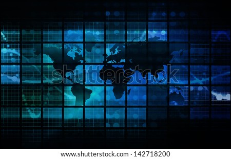 Technology Background as a Digital Abstract Art - stock photo