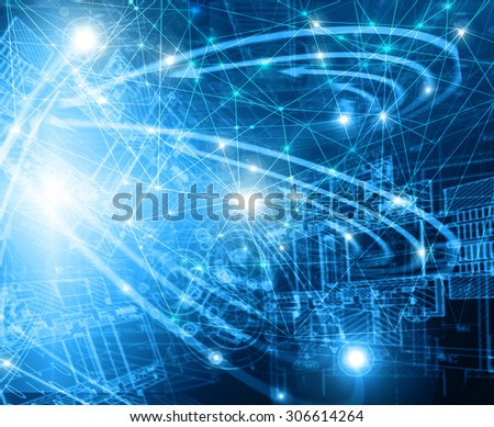 Technology background, from series best concept of global business. Abstract blue background. - stock photo