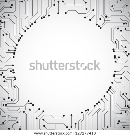 Technology background. Raster version of the loaded vector - stock photo