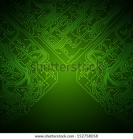Technology background with circuit board texture. Raster version - stock photo