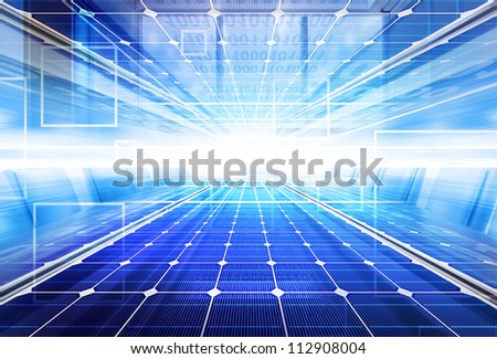 Technology background with transparent geometric shapes - stock photo