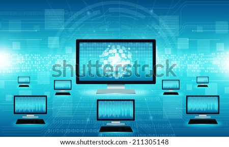 Technology business internet connection background