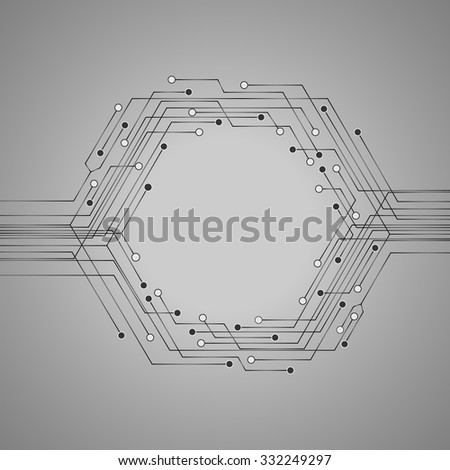 Technology circuit board illustration for your text . Business background.