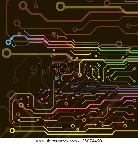 technology circuit board. jpg version - stock photo