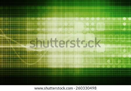 Technology Communications and Satellite Transmission Data Art - stock photo