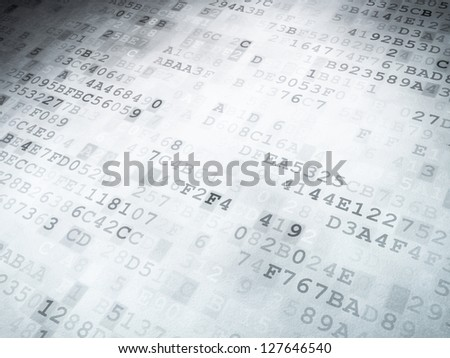 Technology concept: binary code digital background, 3D render - stock photo