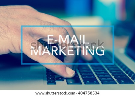 Technology Concept: E-MAIL MARKETING - stock photo