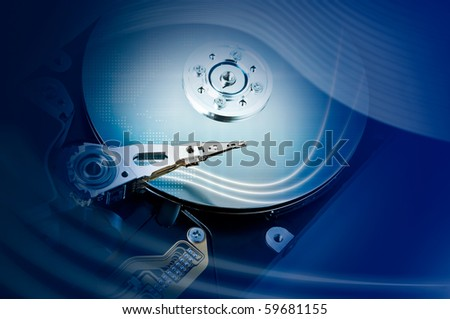 Technology concept: Hard drive