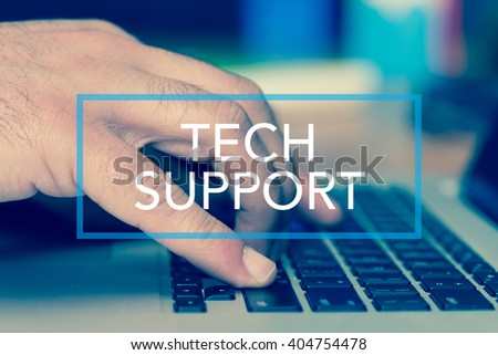 Technology Concept: TECH SUPPORT - stock photo