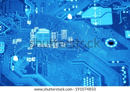 Technology conceptual image. Close up of computer component.
