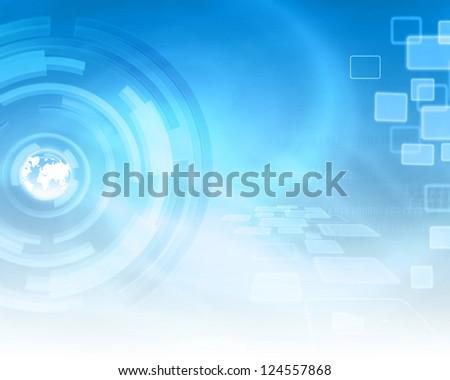 Technology Energy Background - stock photo