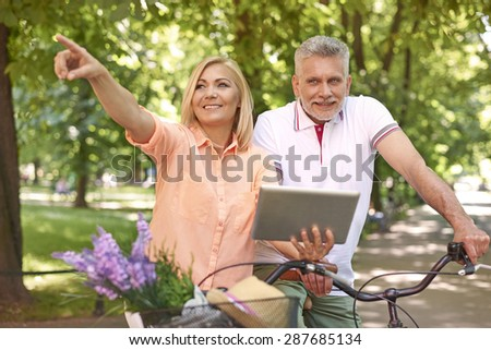 Technology helps to find destination - stock photo