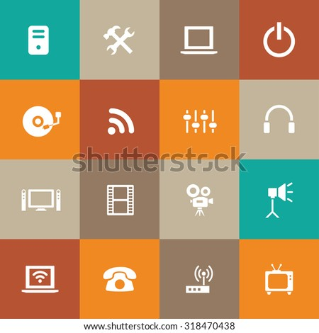 technology icons universal set for web and mobile