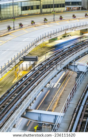 Technology in transportation - stock photo
