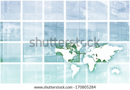 Technology Industry Worldwide as a Global View - stock photo