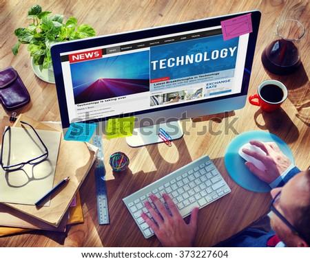 Technology Innovation Evolution Tech Innovative Concept - stock photo