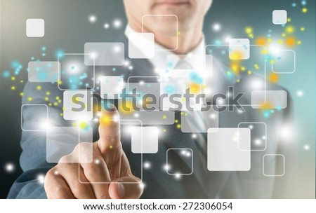 Technology, Internet, Futuristic. - stock photo