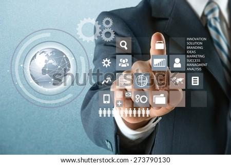 Technology, Internet, Futuristic. - stock photo