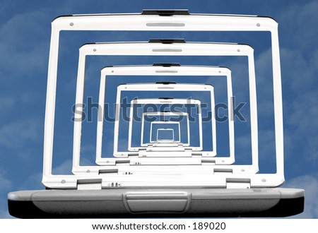 Technology is in colour 3 - stock photo