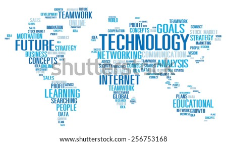Technology Networking Connection Global Communication Concept - stock photo