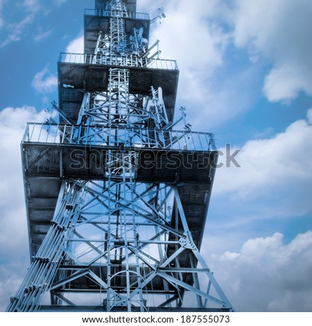 technology wireless cell phone signal tower isolated