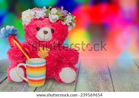 teddy bear fantasy - stock photo