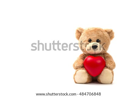 Teddy bear heart stock images royalty free images vectors teddy bear health insurance or love concept on white background voltagebd Image collections