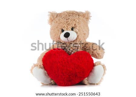 Teddy bear love teddy bear holding a heart on white background voltagebd Image collections