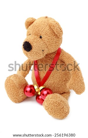 Teddy bear isolated - stock photo