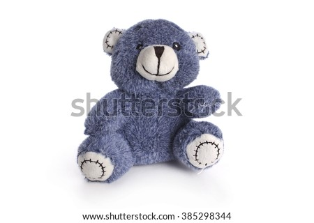 teddy bear isolated on white - stock photo