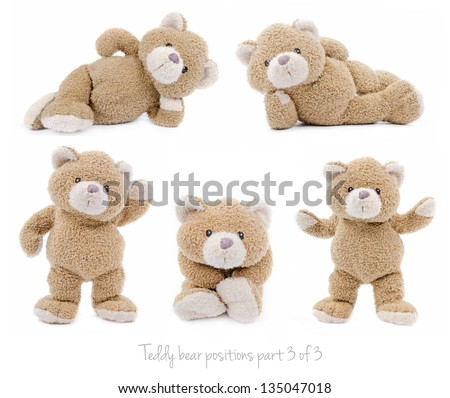 teddy bear set (3 of 3) - stock photo