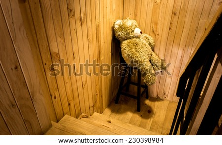 Teddy Bear sitting on Chair