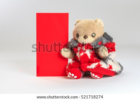 Teddy bear wish you happy chinese new year.