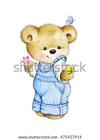 Teddy bear with butterflies