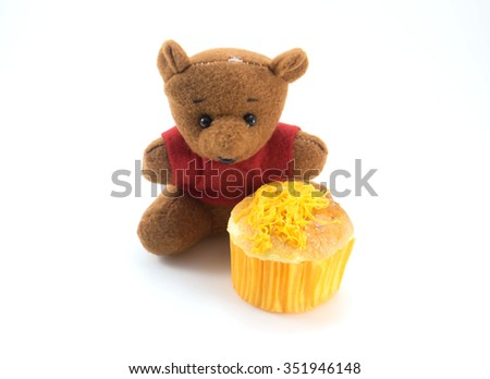 Teddy Bear with Cake from Thailand