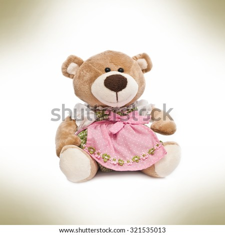Teddy bear with clothes