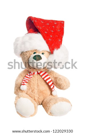 Teddy Bear with Santa Hat / Christmas Time