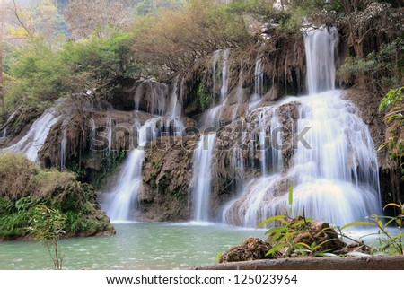 tee lor su waterfall,Thailand - stock photo