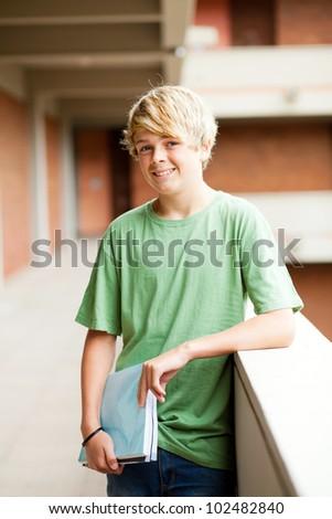 teen student in school building - stock photo