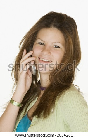 Teen talking on the cell phone