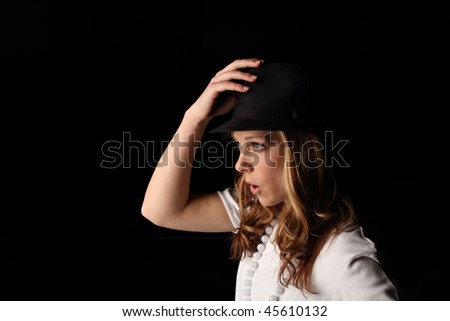 Teen with hat