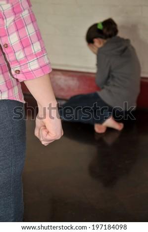 Teenage Bullying - stock photo