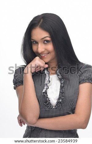 teenage girl in a relaxed mood - stock photo