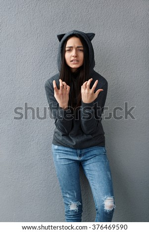 teenage girl wonders how this can be - stock photo