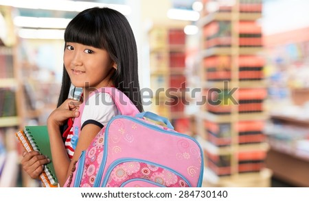Teenage Girls, Elementary Student, Teenager. - stock photo